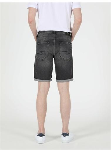 Colin's CL1049607_Q1.V1_DN40949 045 Davıd Orta Bel Orta Regular Fit Jean Erkek Jean şort Renkli